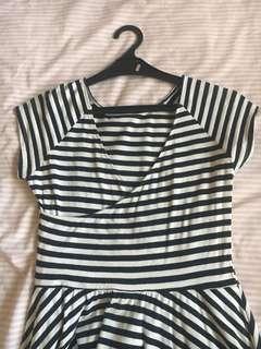 dress zara stripes