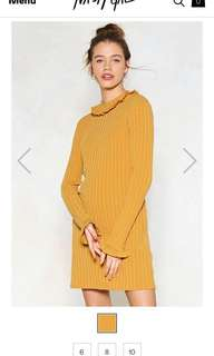 Nastygal knit off sweater dress