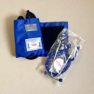BP Apparatus - Aneroid Sphygmomanometer & Stethoscope (Blue)