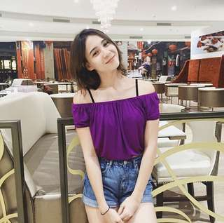 Purple Off Shoulder Top