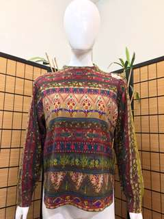 Tapestry-inspired Knit Sweater