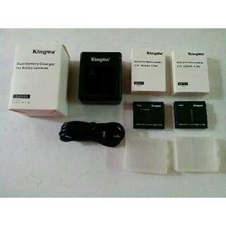 Kingma brand 2 dual battery wl charger fo xiaomi yi