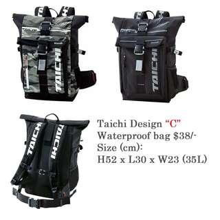 """Taichi Design """"C"""" Waterproof bag $38/-"""