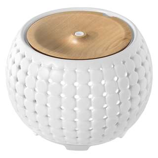 844. Ellia Gather – Ultrasonic Aroma Diffuser + Essential Oil Samples, Ambient Mood Lighting, Soothing Sounds, Remote Control, Alleviate Dry Air, Create Calming Environment + Relieve Stress - Cream