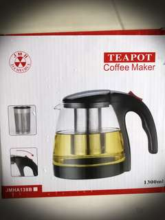 Tea/Coffee Glass Pot (Brand New)