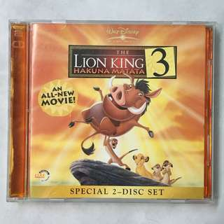 Disney The Lion King 3 movie VCD