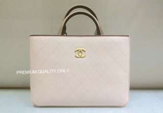 Chanel BiColour Hampton Tote- beige