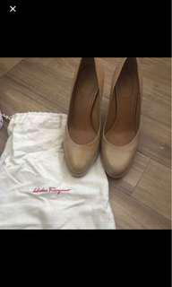 Authentic ferragamo platform heels shoes