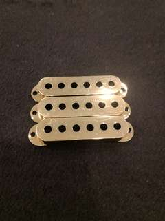 Strat Gold pickup cover 3 pcs for single coil