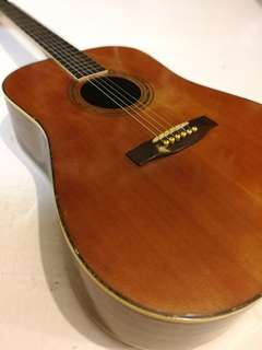 Vintage Acoustic Guitar Well Kept Nice Sound