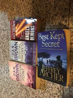 Dan brown and Jeffrey archer