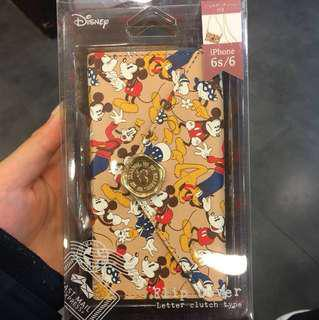 Disney Mickey Mouse 米奇老鼠 iphone6/ 6s case (letter clutch type)