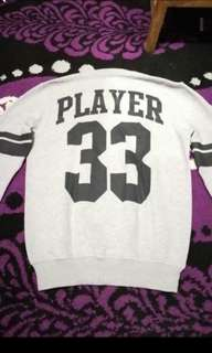 Sweater Player Grey | Unisex | Fit L