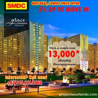 1BR with Bal SMDC Grace Residences @ Taguig - Rent to Own Condo