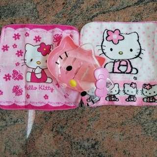 Hello Kitty soap holder with 2 handkerchief