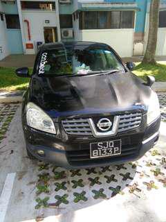 Nissan Dualis QashQai SUV 2L for rent grab lease