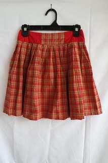 Plaid Mini Skirt (Rok kotak)