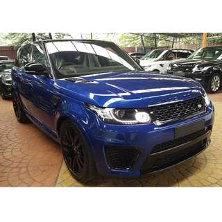 LAND ROVER RANGE ROVER SPORT SVR 5.0 V8 SUPERCHARGE PANORAMIC ROOF CARBON FIBER PKG (A) OFFER UNREG 2017