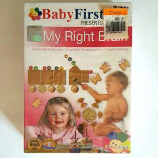 🚉Brand New Baby First Presents My Right Brain DVD