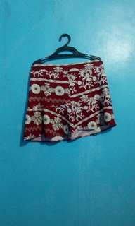 Red printed skirt