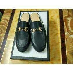 Black slide on princes shoes sz.8