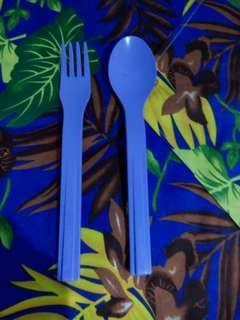 Sendok + garpu magnet Tupperware