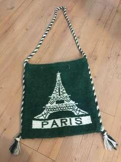 PARIS圖紋手工側背包