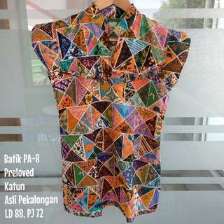 JUAL PRELOVED Blouse Batik Katun Wanita PA-8 (asli pekalongan)