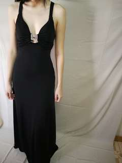 Long V-neck Dinner Dress