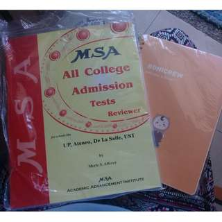 MSA All College Admission Test 📔