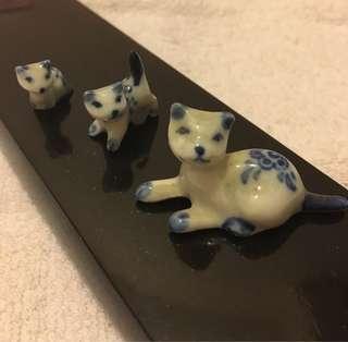 三隻招財貓