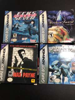 Boxed GBA GAMES