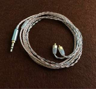 🚚 8 wire hybrid SPC + single crystal copper mmcx IEM upgrade cable