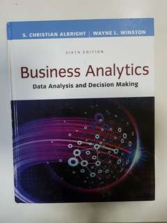 Business Analytics (Data Analysis and Decision Making)