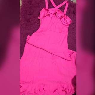 Barbie pink long dress 🌸