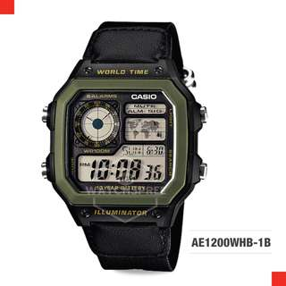 FREE DELIVERY *CASIO GENUINE* [AE1200WHB-1B] 100% Authentic with 1 Year Warranty! AE-1200WHB1B AE-1200WHB-1B AE1200WHB1B