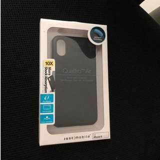 Just|Mobile Quattro Air for iPhone X (black)