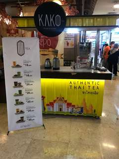 Booth ice Thai Thea tanpa merk, bisa langsung jualan