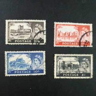 G.B  4v stamps