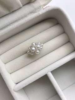 極強光日本akoya18k鑽石戒指