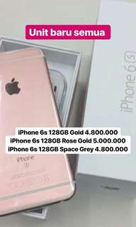 Iphone6s 128Gb new Gold