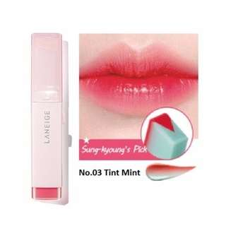 Laneige Two Tone Tint Lip Bar (No.3 Tint Mint) *COMES WITH FREE GIFT*