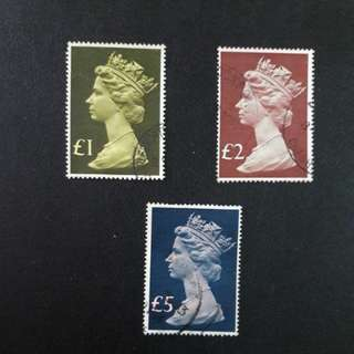 G.B stamps