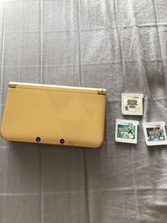 Nintendo 3ds XL zelda version (modded) with Pokemon games