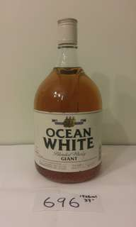 (696) 1920ml 約90年代日本輕井澤三樂OCEAN BLENDED WHISKY GIANT 37%   日本法國舊酒洋酒威士忌白蘭地干邑拿破崙whisky brandy cognac xo vsop napoleon