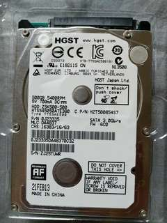 """HGST Travelstar 500GB SATA 3.0 2.5"""" Hard drive"""