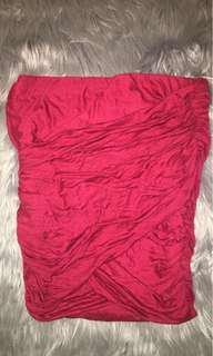 Burgundy wrap skirt