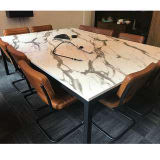 Boardroom table - marble acrylic finish