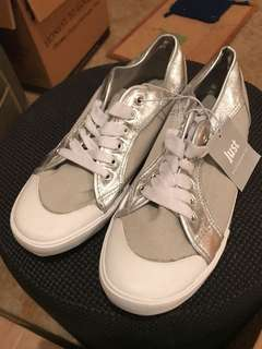 Just Jeans Silver grey sneakers BNWT size 10