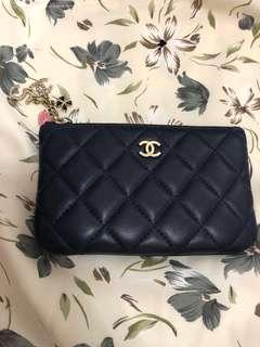 Chanel navy 情人節特別版 coins bag